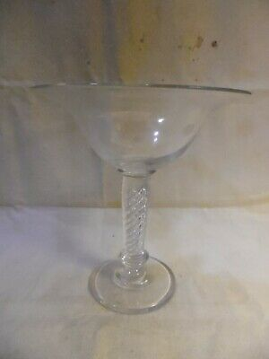 Compote Glass With Air Twist Stem