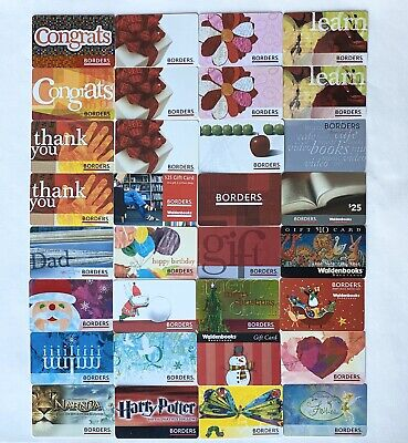 BORDERS Walden Books GIFT CARD LOT OF 32 NO VALUE ON CARDS  B