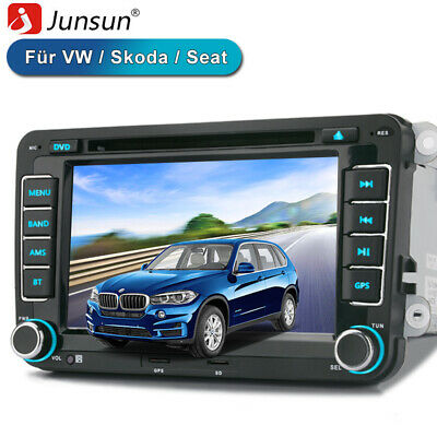"7"" Autoradio 2 DIN GPS Für VW Golf Passat Tiguan Tougan FM AM DVD USB Bluetooth"