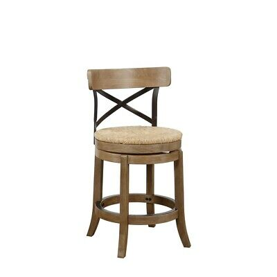 """24"""" Myrtle Swivel Counter Stool , Wheat Wire-Brush"""