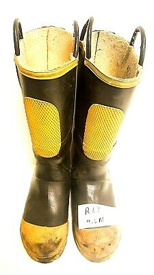 Ranger FireWalker Firefighter Turnout Rubber Boots Steel Toe Size 9.5 Medium R27