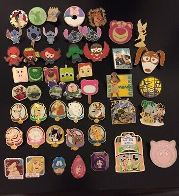 50 Disney Trading Pin Lot U Get What's Pictured Stitch Mickey Marvel Toy Story