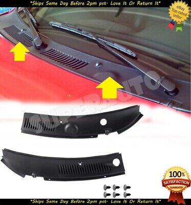 2Pcs Windshield Wiper Cowl Vent Grille Panel Hood For 1999-2004 Ford Mustang