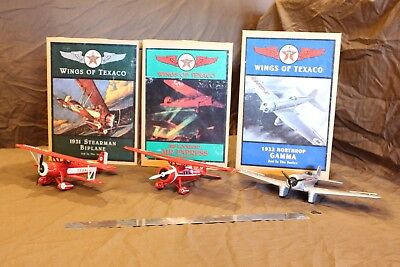Texaco Airplane banks (3) 1929, 1931, 1932 Displayed only not played with.