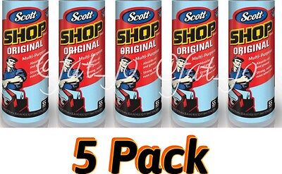 5 Rolls Scott Multi Purpose Shop Cleaning Towels Kimberly Clark