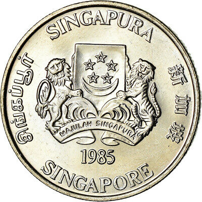 [#851451] Coin, Singapore, 20 Cents, 1985, Singapore Mint, MS, Copper-nickel