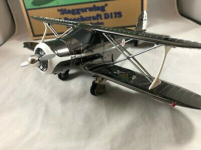 Wings Of Texaco Staggerwing 1939 Beechcraft D17S Special Edition Black Chrome