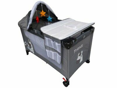 FRIENS EXTRA Travel Cot Bed Mosquito Child Bassinet Playpen With Net Bag
