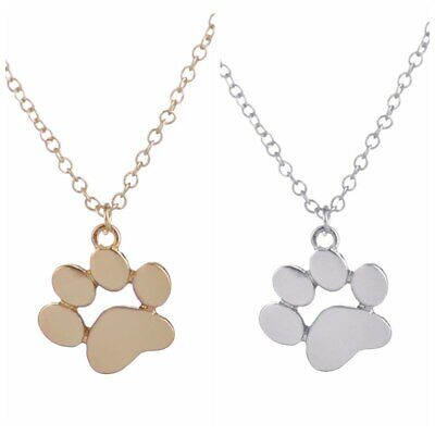 Dog Paw Print Pendant On 18 Silver Plated Fine Metal Chain Necklace Ideal Birthday Gift N884