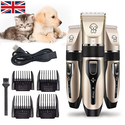 Professional Dog Clippers Cordless Pet Clipper Hair Shaver Grooming Trimmer Kit.