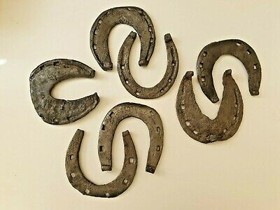 Lot Of 3 Middle Aged Medieval Iron Aged Horseshoe Nice Quality Big Size