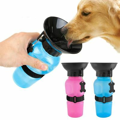 500Ml Pet Dog Cat Drinking Bottle Mug Travel Outdoor Water Bowl Puppy