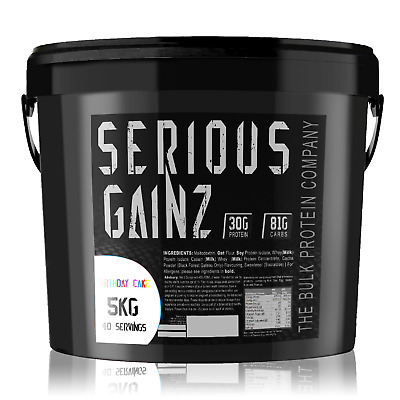 5KG or buy 2 for 10kg! SERIOUS MASS GAINER Make Mutant Gains Protein Powder