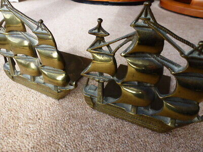 Cast Iron Sailing Ships Book Ends