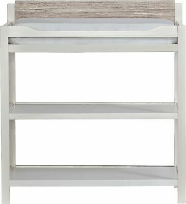 Suite Beb - Hayes Wood Changing Table - White And Natural Wood