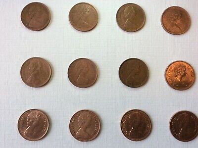 GB Completecollection of QEII 1/2p Coins, from 1971 & 1983, some original Lustre
