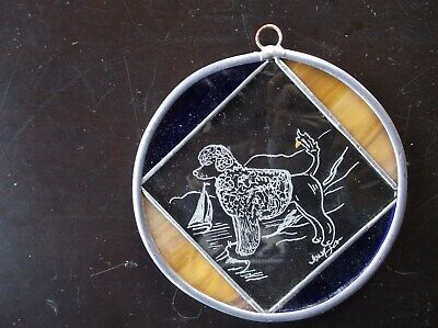 Portuguse Water Dog- Beautifully Hand Engraved Ornament by Ingrid Jonsson