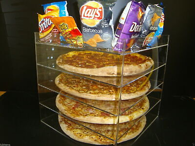 "Displays2buy 18"" Pizza Showcase Retail Store Acrylic Display Cases"
