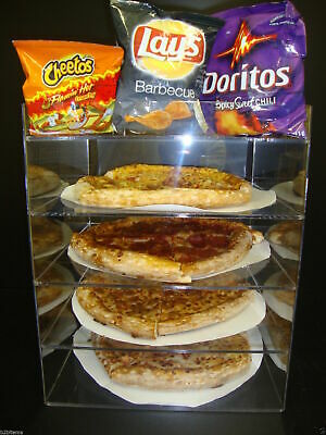 "Displays2buy 12"" Pizza Showcase Retail Store Acrylic Display Cases"