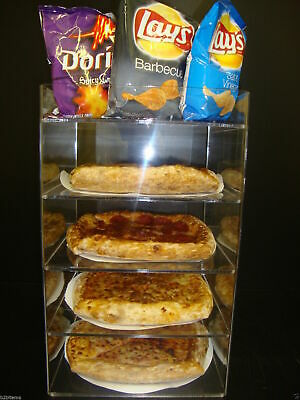 "Displays2buy 8"" Pizza Showcase Retail Store Acrylic Display Cases"