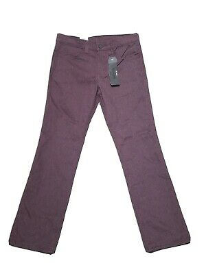BRAND NEW! Levi Strauss 511 Skinny Maroon Red Burgundy Zip Up Pants Mens 31 x 30