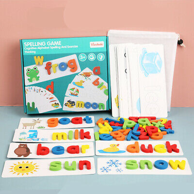 1 Set Spelling Words Game 26 English Alphabet Kids Word Spelling Exercises