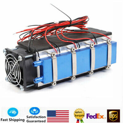 8-Chip 12V Thermoelectric Peltier Refrigeration Water Cooling System Cooler NEW
