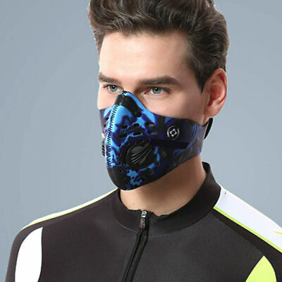 Activated Carbon Dustproof Face Protector Outdoor Respriator Running Face Shield