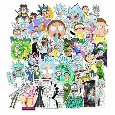 10 Different Rick And Morty Vinyl Stickers Randomly Selected