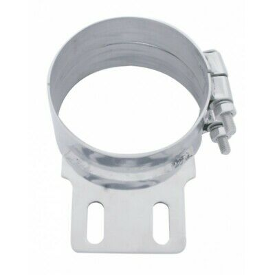 """UP Exhaust Butt Joint Clamp for 7"""" Peterbilt Stack w/Tab Stainless #10321 Each"""