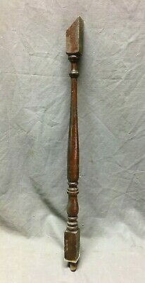 "Antique Turned Wood Pine Spindle Baluster  26"" Staircase Vtg 373-20B"