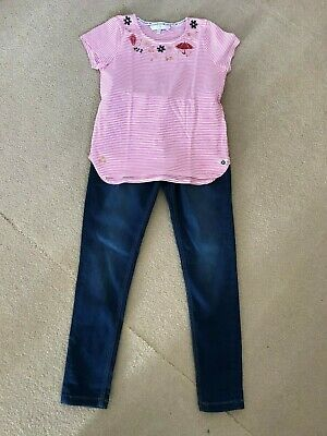 Girls Jasper Conran T-shirt & Brand new Marks & Spencer Jeans outfit, 8-9 years