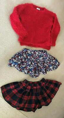 Girls Next jumper and two matching pairs of skorts set, 7 years