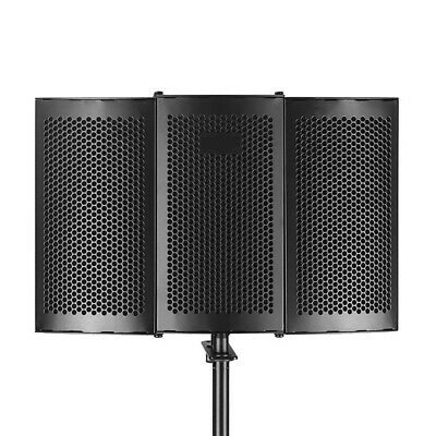 Studio Recording Microphone Foldable Isolation Shield Accessories Soundproof