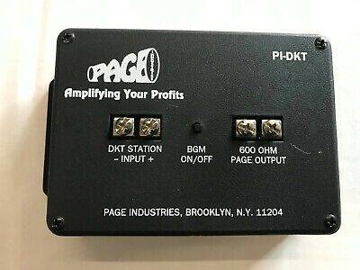 Page Ind. PI-DKT Paging Interface Adapter