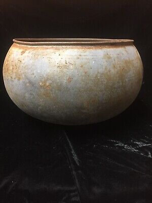 Antique Cream Separator Bowl Farmhouse Salvage Vintage Galvanized Garden Planter