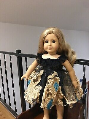 "Doll Clothes Princess Party Prom Dress Fits 18"" American girl Doll Black Gown"
