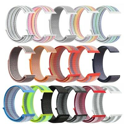 Fashion Woven Nylon Sport Loop Strap Quick install For Fitbit Versa Wristband UK