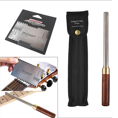 Guitar Fret File Repair Luthier Tools Crowning 3 Size+ Action Gauge Ruler Scales