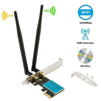 2.4G/5G 1200Mbps PCI-E Wireless WiFi Card Dual Band Network Adapter for Computer