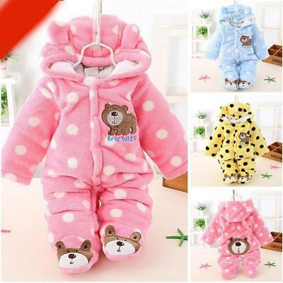 Baby Boy Girl Snowsuit Lightweight Hood All in One Newborn Outfits Clothes GR