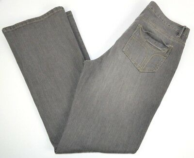 Natural Reflections Women's Boot Cut Gray Jeans 8