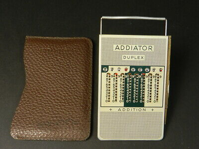 Calculadora De Bolsillo Addiator Duplex Año 1950  Adding Machine Rechenmaschine