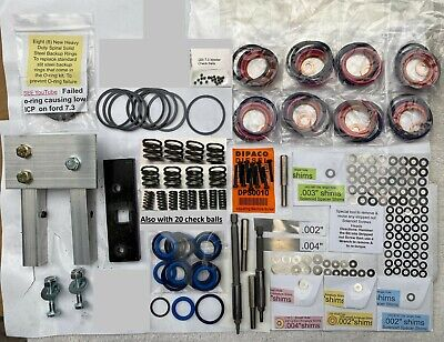 7.3L POWERSTROKE injector deluxe rebuild KIT w/ vice clamp and tools  to install
