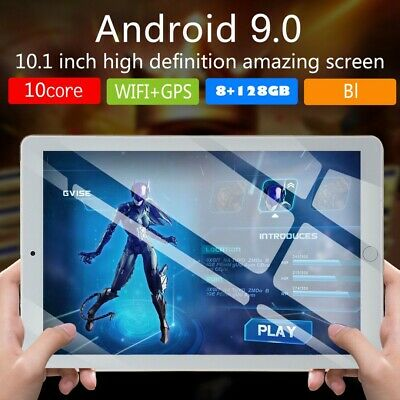 10.1'' Tablet PC Android 9.0 8+128GB 10 Core WIFI GPS Dual SIM Cam Touch Screen