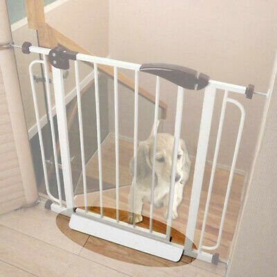 Baby Pet Gate Stair Way Safety Fixed Board for Door Extra Wide Tall Lock Walk /