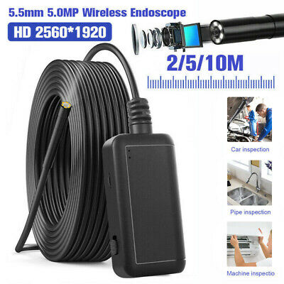 2m 5m 10m 5.5mm 5.0MP 6 LED WIFI Wireless Endoscope Camera For iPhone Android PC