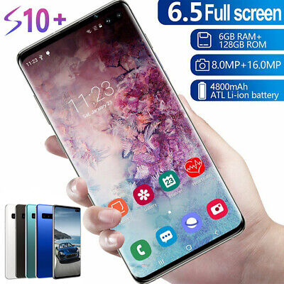 "6.5"" S10 Smart Mobile Phone Face ID/Fingerprint Unlocked Dual SIM Android 9.1 k"