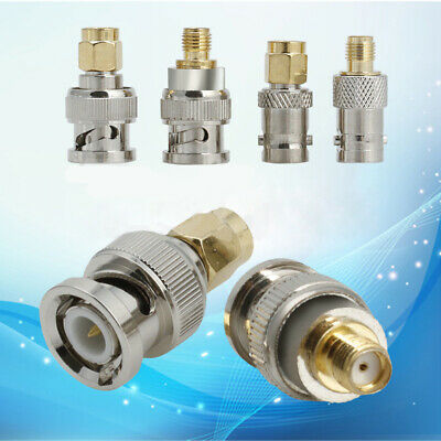 4Pcs BNC Male To SMA Female Jack Plug RF Connector Adapter Tests Convertor Sets