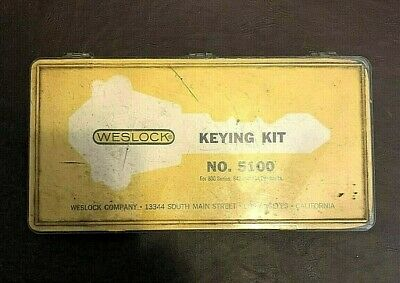 Vtg Weslock Keying Kit  No. 5100 Locksmith Master Keyed Cylinders Los Angeles
